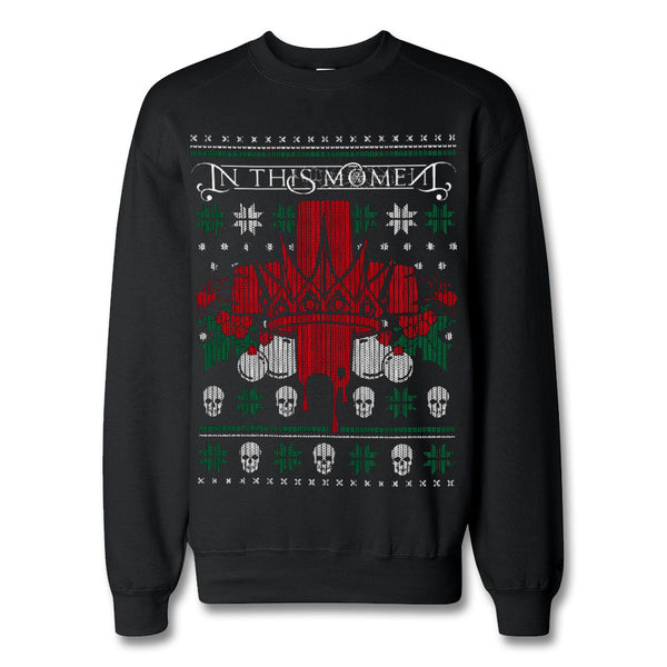 Official In This Moment Bloody Christmas Crewneck Sweatshirt