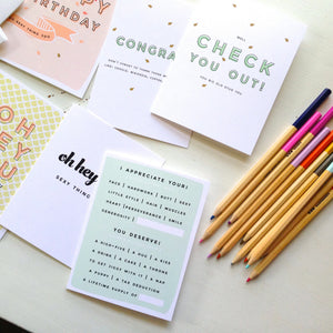 Compliments All Around Set (6 Cards w/ Envelopes)