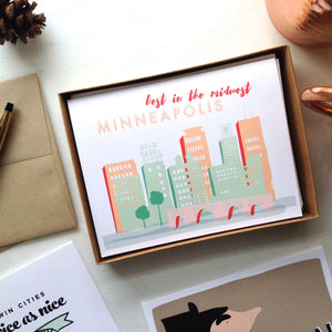 Twin Cities Lovin' Set (6 Cards + Envelopes)