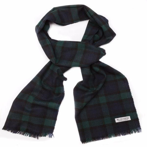 Highlands Plaid Wool Scarf