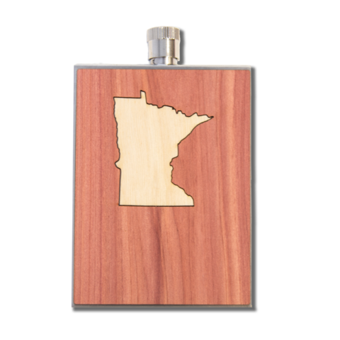 Wooden Flask + MN Inlay