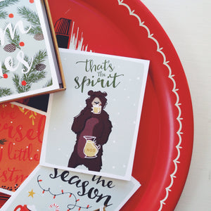 """Tis the Season"" Christmas Card Set (5 Cards w/ Envelopes)"