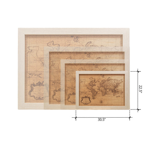 Wood World Map
