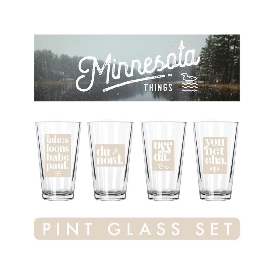 Minnesota Things Pint Glasses Set | Minnesota Mall
