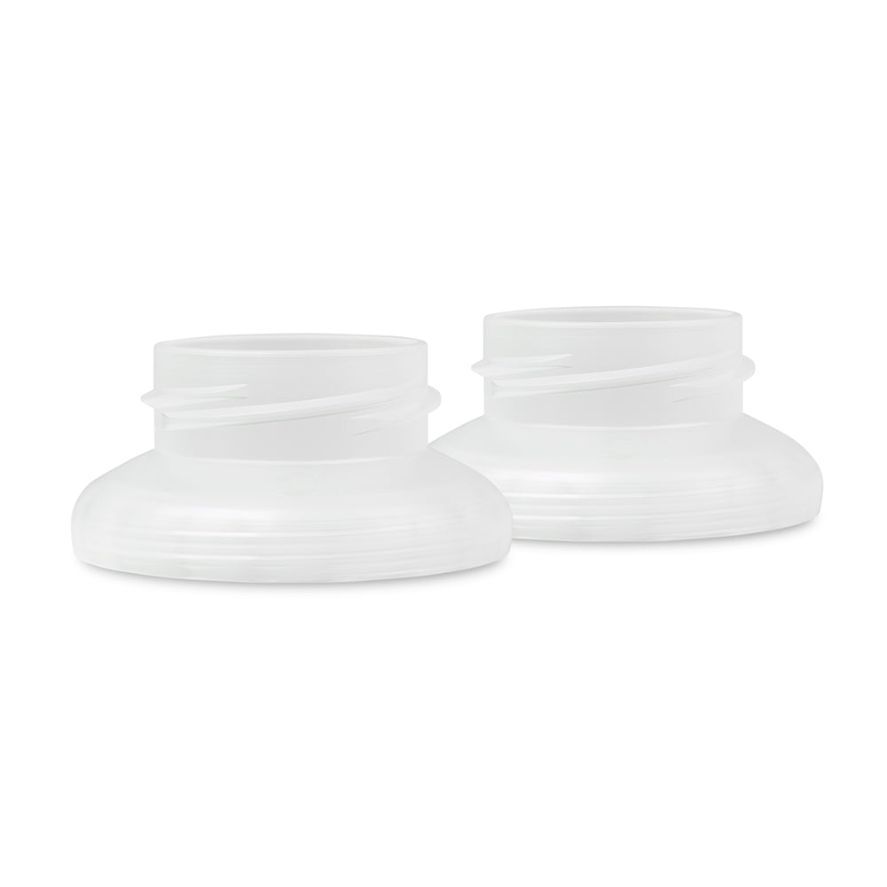 Breast Pump Adapter for GentleBottle (2-Pack) - Works with Spectra pumps