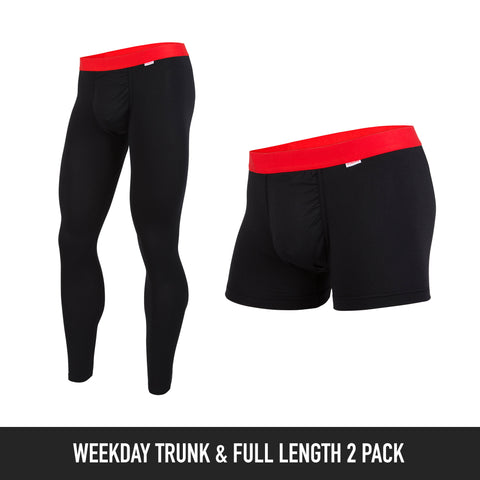 Weekday Trunk & Full Length: Solid Colour 2-Pack