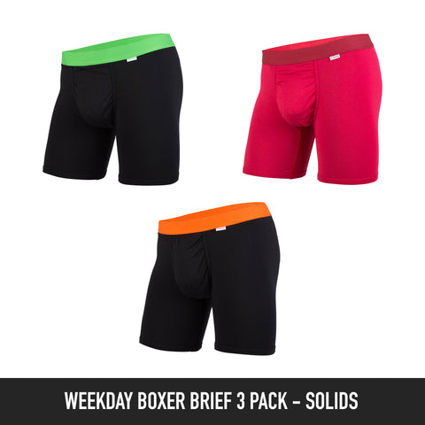 Weekday Boxer Brief: Solid Colour 3-Pack