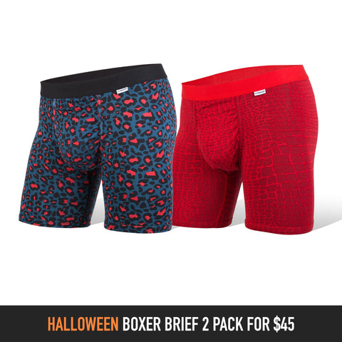 Halloween Print 2-Pack: Weekday Boxer Brief