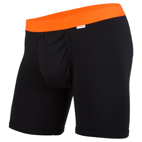 Weekday Boxer Brief: Black/Orange