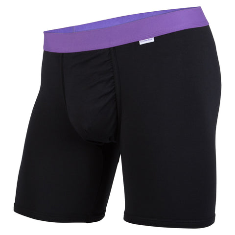 Weekday Boxer Brief: Black/Purple