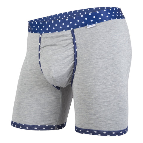 Weekday Boxer Brief: Heather Polka Dot