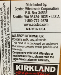 Allergen label