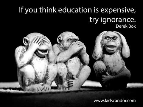 If you think education is expensive, try ignorance. Derek Bok