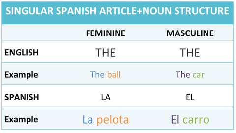 Developing noun phrases in Spanish and English