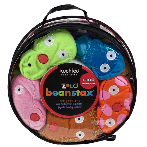 zolo kushies beanstax beanbag stacking baby toy