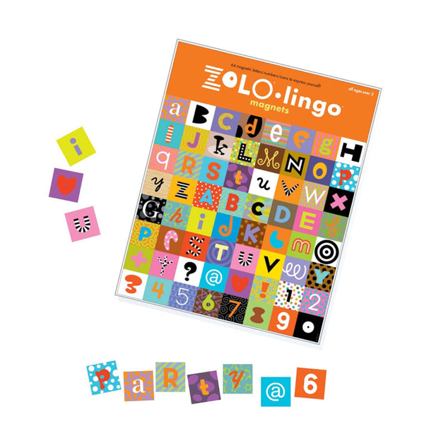 zolo lingo magnets creative typography refrigerator magnets