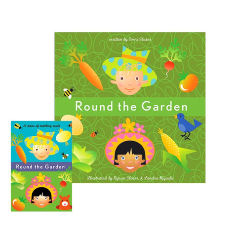 round the garden card and book set