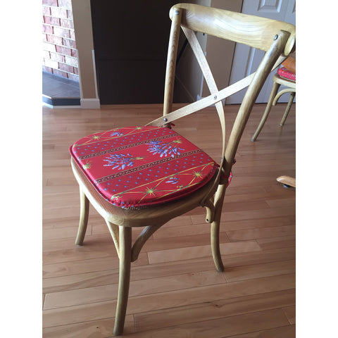 Lavender Red Chair Pad, Marianne M., Canada
