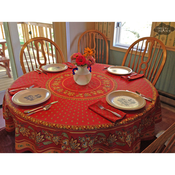 Lisa Red round tablecloth, Nancy L.