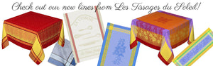 Check out our new lines from Les Tissages du Soleil