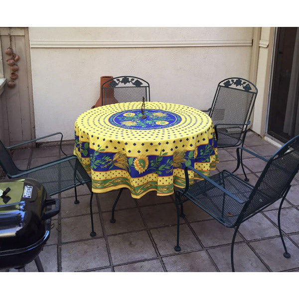 TOURNESOL YELLOW TABLECLOTH, S. RESIDENCE, ORANGE, CA