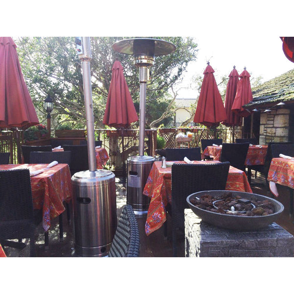 Lavender Red Tablecloths, Treehouse Cafe, Carmel, CA