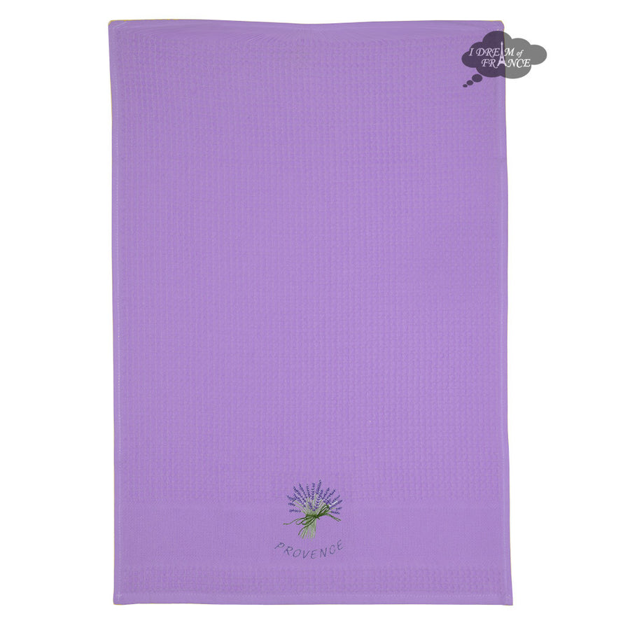 Lavender Purple Waffle Weave Kitchen Towel by Tissus Toselli