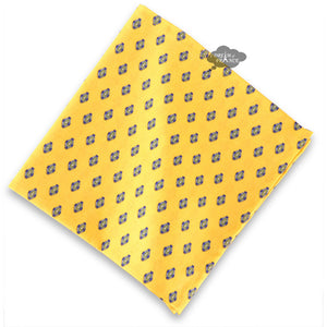 Lisa Yellow French Country Cotton Napkin by Le Cluny
