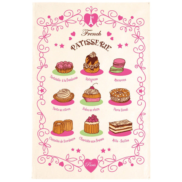 French Patisserie Tea Towel by Torchons et Bouchons