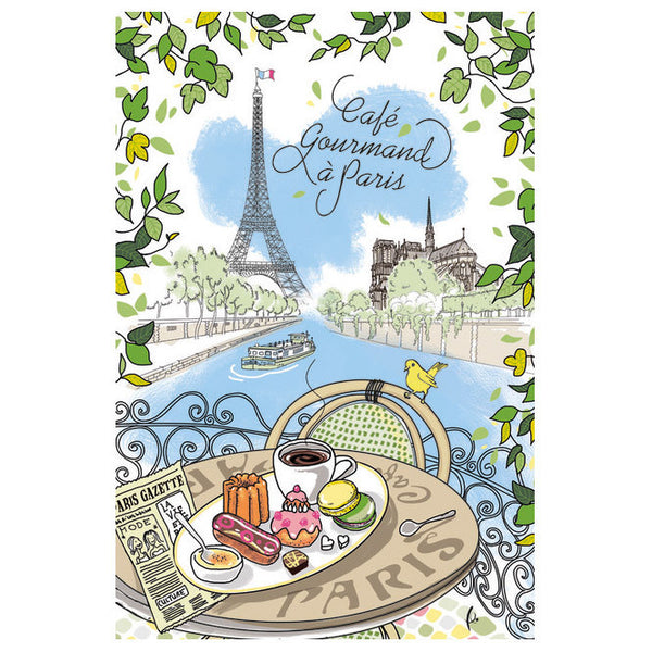 Cafe Gourmand Tea Towel by Torchons & Bouchons