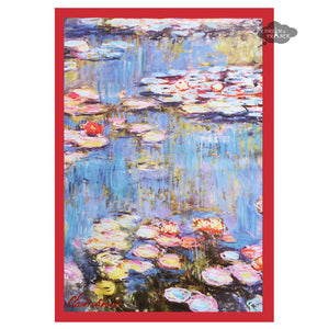 Monet Nympheas Water Lilies French Kitchen Towel by L'Ensoleillade