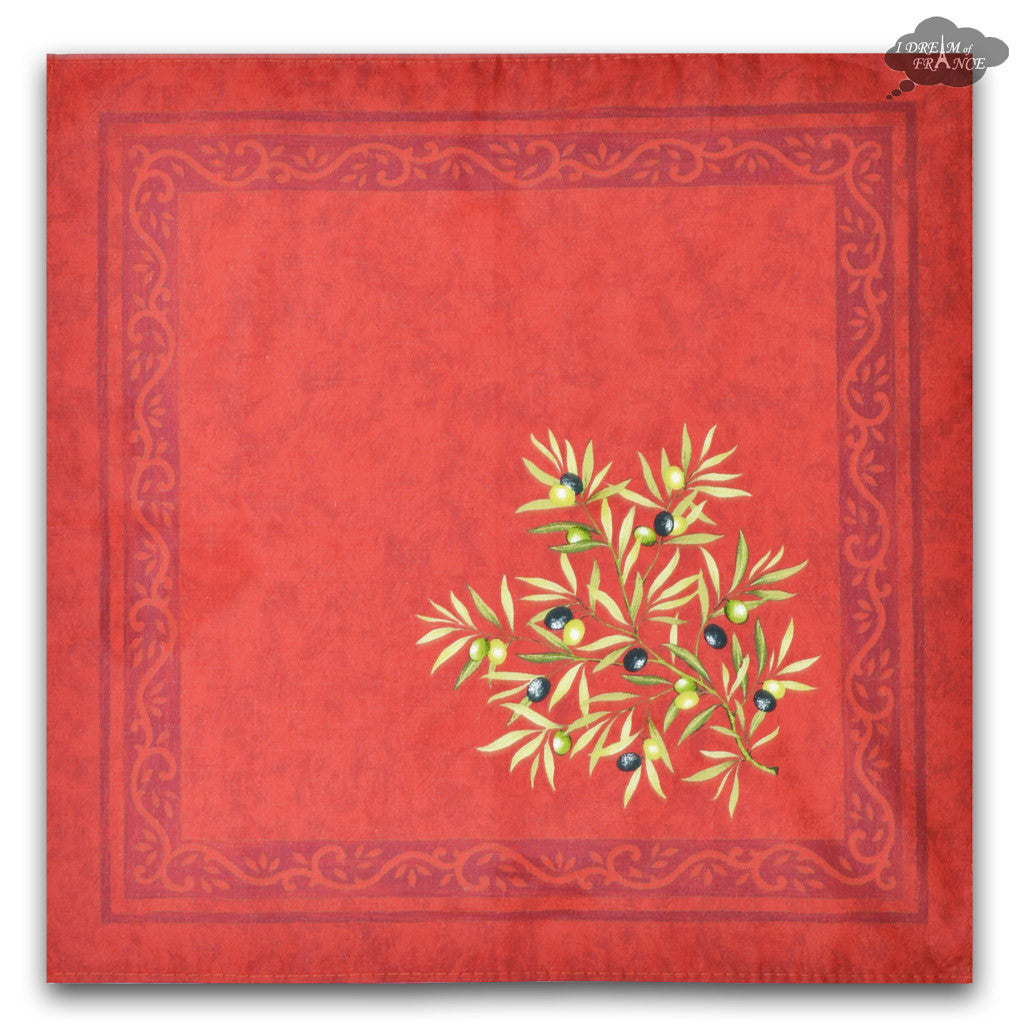 Clos des Oliviers Red Provence Cotton Napkin