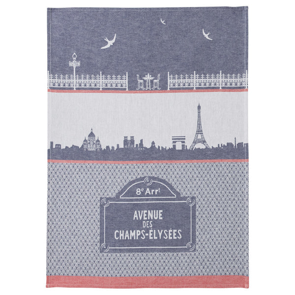 Coucke Monuments de Paris French Jacquard Dish Towel - Big Design