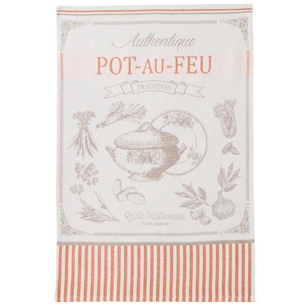 Coucke Pot au Feu (Beef Stew) French Jacquard Dish Towel