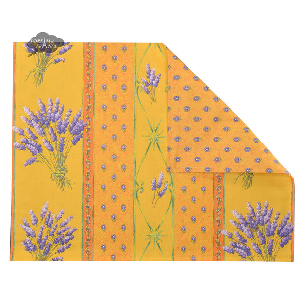 Lavender Yellow Coated Reversible Placemat by Le Cluny