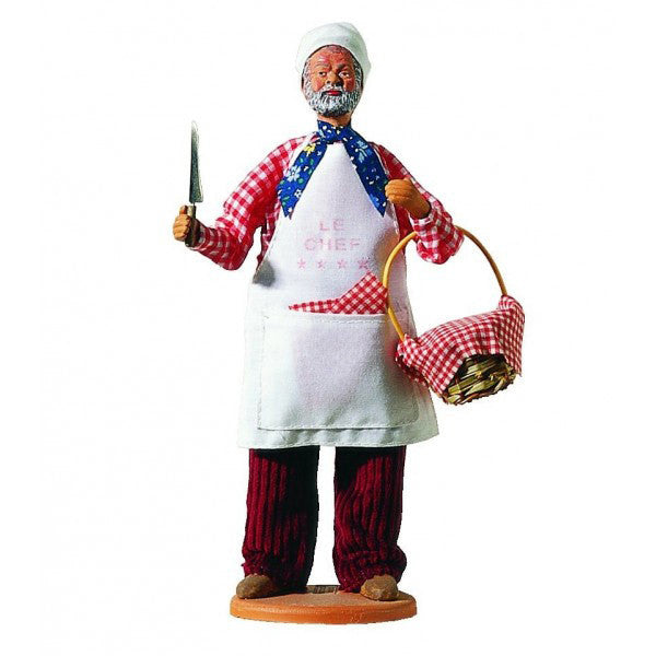 "French Provencal Santon Figure 11"" - French Chef"