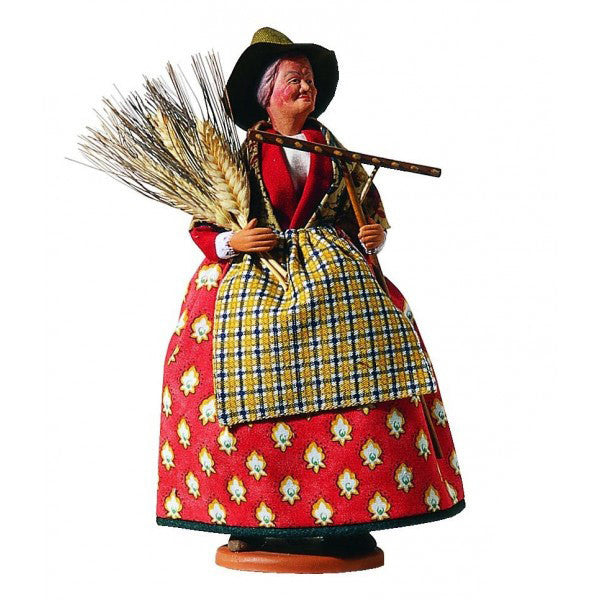 "French Provencal Santon Figure 11"" - The Gleaner"