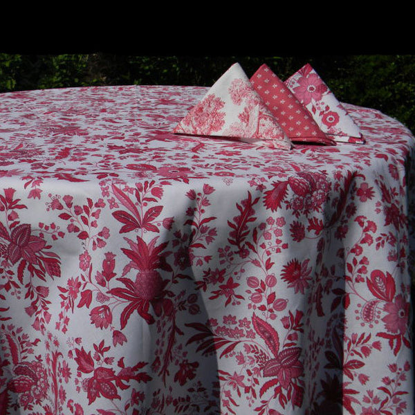 Versailles Red Provence Cotton Napkin by Le Cluny