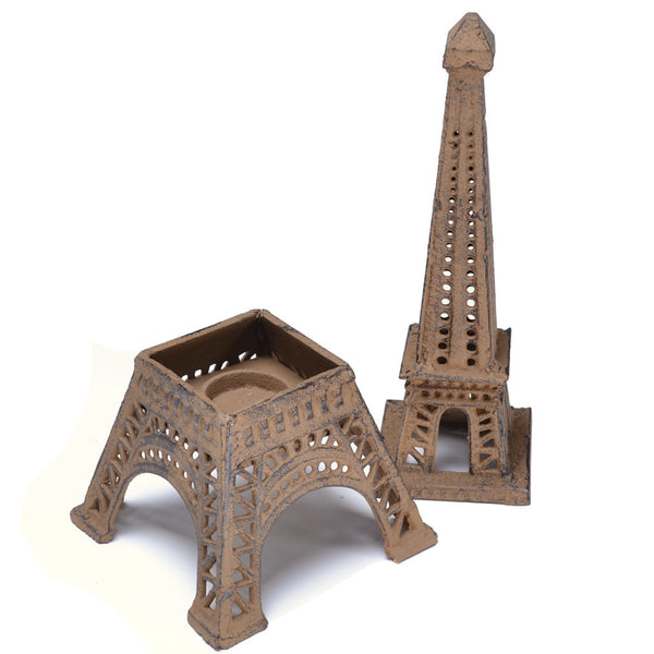 Antique Style Cast Iron Eiffel Tower / Candle Holder