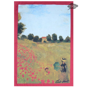 Monet Wild Poppies French Kitchen Towel by L'Ensoleillade