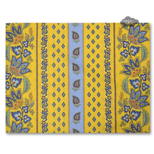 Lisa Yellow Coated Reversible Placemat by Le Cluny