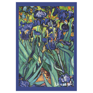 Van Gogh Irises French Kitchen Towel by STOF