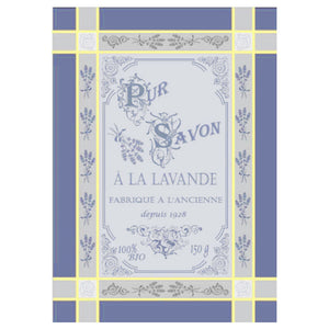 Lavandiere blue French Jacquard Kitchen Towel by Montolivet