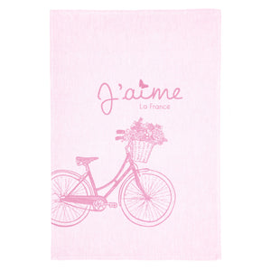Coucke A Bicyclette (By Bicycle) French Dish Towel