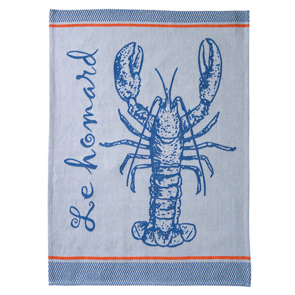 Coucke A La Peche (Gone Fishing) French Jacquard Dish Towel - Big Design