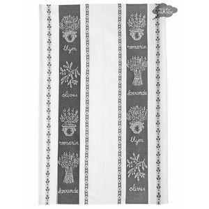 Coucke St Remy Black French Dish Towel
