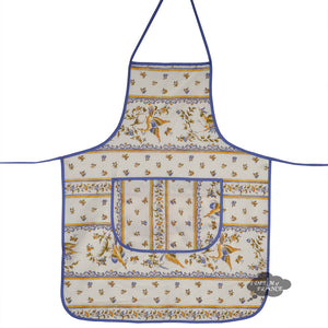 Moustiers Blue & Cream Kitchen Apron by Tissus Toselli