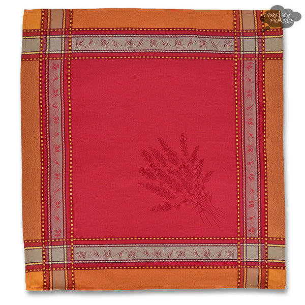 Senanque Red French Cotton Jacquard Napkin