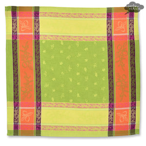 Lemon Green French Jacquard Napkin