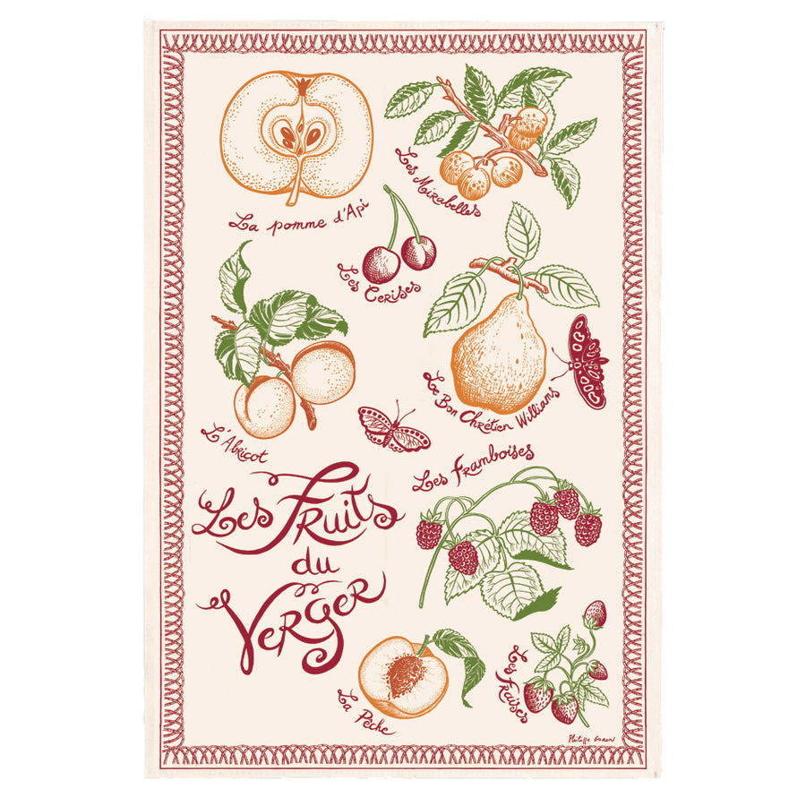 Fruits of the Orchard Tea Towel by Torchons et Bouchons